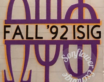 Omega Psi Phi inspired 20oz or 30oz Tumbler with Decal