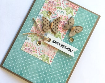 Floral Birthday Card **READY TO SHIP**