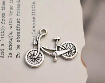 20 antique silver bicycle charms  charm pendant pendants  YQ1