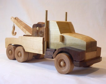 Tow Truck - Handmade Wooden Toy