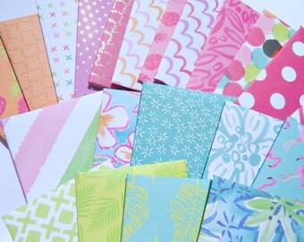 Gift Card Holders / Gift Card Envelopes / Mini Envelopes / Pink, Teal, Blue, Green, Lime Envelopes / Polka Dot Envelopes / Floral Envelopes