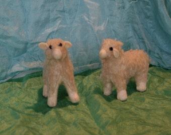 Stuffed Lamb, felt lamb, Stuffed sheep, sheep plush, soft sculpture