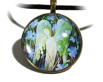 Guardian angel cabochon amulet V