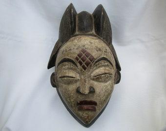 African masks/Punu mask/African tribal masks/Gabon mask/Vintage masks/Early to mid 20th century/Masks for collectors of African art