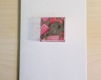 "4""x6"" Valentine's day Shaker Card - Key to my heart"