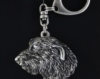 Irish Wolfhound, dog keyring, keychain, limited edition, ArtDog