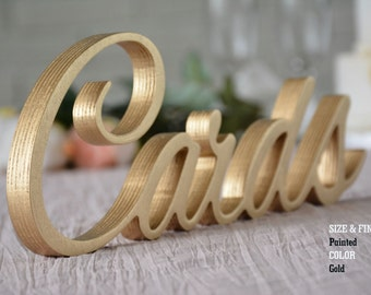 Gold Wedding Cards Sign- Wedding Decoration CARDS, Sign for Wedding, Wedding Cards Sign