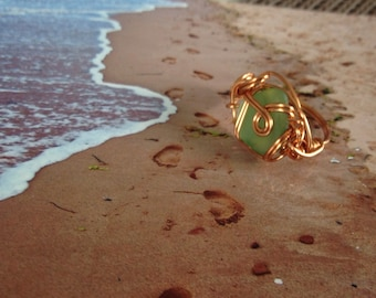 Wire SeaGlass Rings