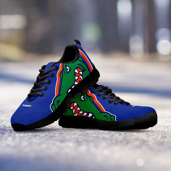 Mens Shoes gift Trainers collector Florida Blue Unofficial Custom Sneakers Fan Ladies Sizes Black Kids Gators fan qUwBSv