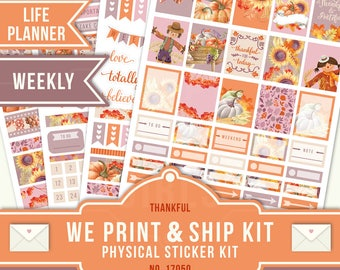 MATTE STICKER KIT, Matte Planner Stickers, Erin Condren Planner Sticker, Weekly Planner, Fall Sticker Kit, November Planner Sticker, 17050