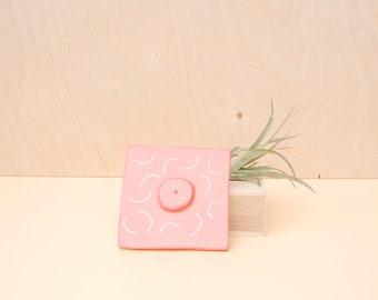 Bubblegum Cube Incense Holder / Modern Home Decor / Modern Incense Burner