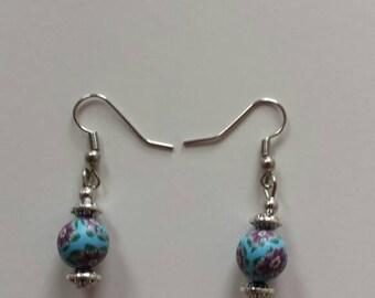 Fimo flowers earrings