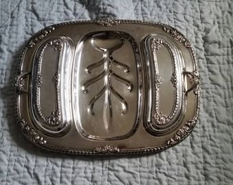 Vintage Silver Plated Meat Tray with Covers, F B Rogers