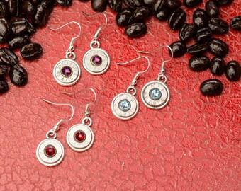 Bullet Casing Jewelry - Gumdrop Dangle Bullet Earrings (45 Auto) (Nickel Free)