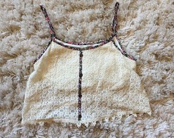 XS Paper Crane Crochet Crop Top