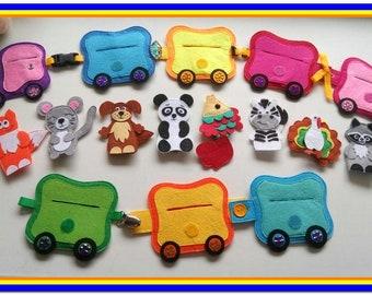 Gift, gift for child,finger theater,  animal finger puppet