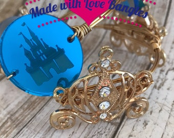 Princess Castle Wire Wrapped Bangle *Bourbon and Boweties Inspired*