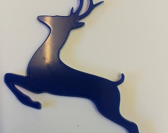 Acrylic Jumping Reindeer Shape - 3mm Laser Cut - Many Colours Available - (Frosted Acrylic)