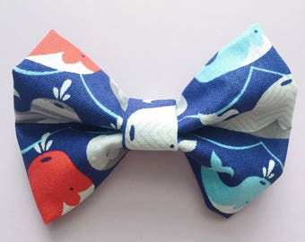 Orion Whale // Dog Bow Tie // Cat Bow Tie // Whale Bowtie // Summer Bow // Ocean Bowtie