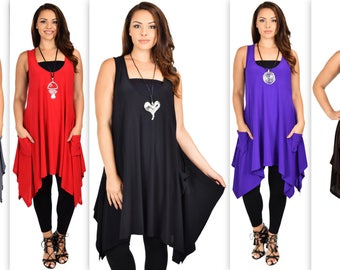 Comfyplus Full Figure Tunic, Plus size tunic, Plus size clothing, lagenlook Tunic, Designer tunic dress with details Sizes XL to 4XL