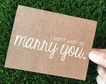 I can't wait to marry you card / wedding day card / i love you card / wedding card fiance / wedding day card husband / wedding day card wife