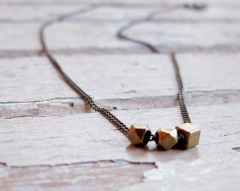Everyday - Hand crafted Brass Necklace - Delicate Brass Necklace - Layering Necklace