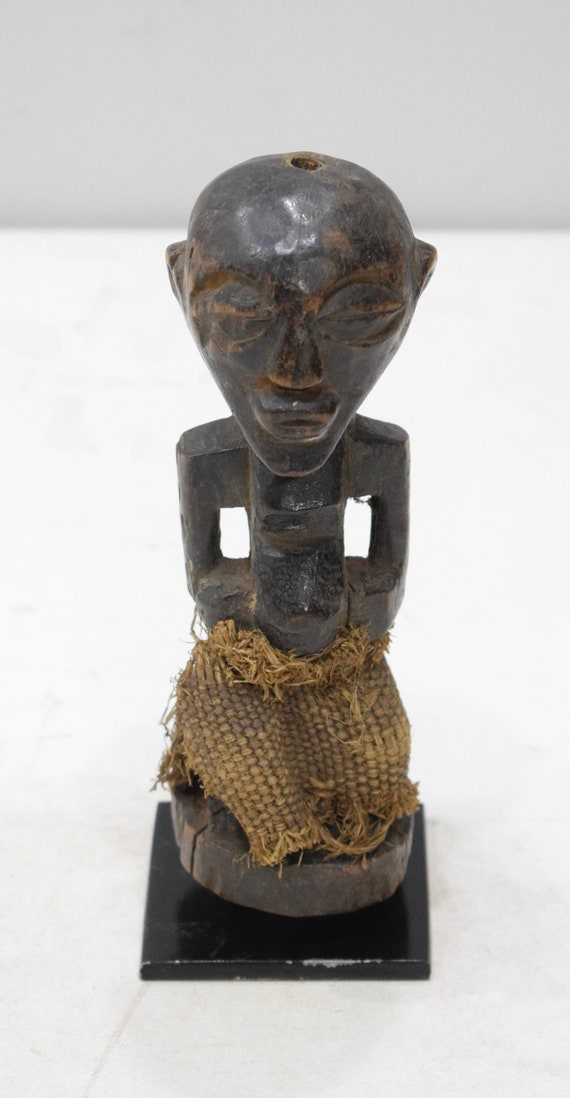 African Statue Songye Fetish Figure DRC 7.5""
