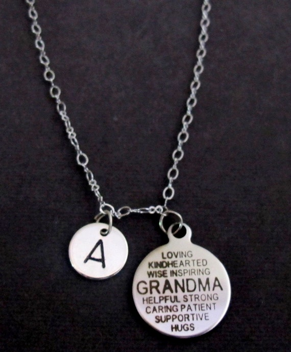 Grandma Necklace, Grandma Quote Necklace, Grandma gift, Personalized Grandma Jewelry, Unique Grandma pendant necklace, Free Shipping In USA