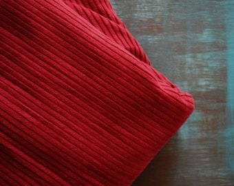 Vintage cotton corduroy fabric Estonian dark red burgundy bordo 6 yards in 1 listing
