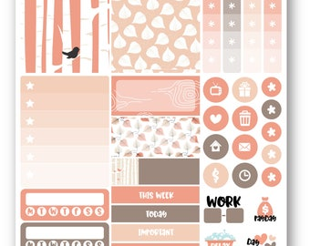 Ready to ship The Woods sampler weekly stickers kit, Suitable for Erin Condren vertical planner, Weekly planner stickers, Mini weekly kit