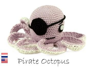 Crochet pattern Pirate Octopus