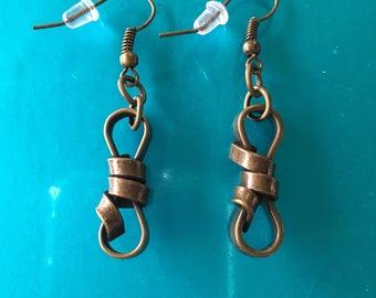 Bronze metal knots earrings