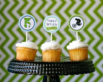 DIY, BMX Bike Cupcake Toppers