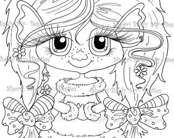 INSTANT DOWNLOAD Digital Digi Stamps Big Eye Big Head Dolls NEW Bestie Twinkle Toes Troll Scan0062 My Besties  By Sherri Baldy
