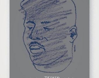 Blind Willie Johnson music event poster. Fine quality print of original artwork. Hand signed.