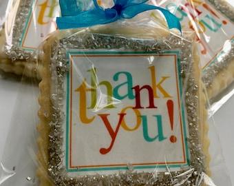 Thank You gift cookie favor-- 1 Dozen Cookies