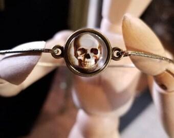 """3"""" Skull Bangle Bracelet"""
