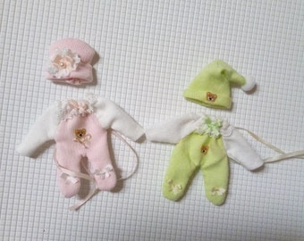 Cute little Miniaturenoutfit for babies up to 6 cm 1:12 Miniatures dolls Dress
