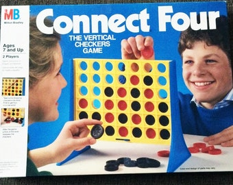 SALE Vintage Connect Four Milton Bradley 1990 100% Complete Classic Game Toy