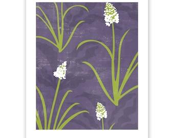 ART302: Camas and Soaproot Block Print Art Reproduction