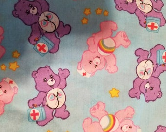 Custom  Care bear nurses Diaper you choose type and size Nb/Sm or Onesize