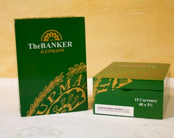 Wooden Cigar Box - The Banker Green Cigar Box  One box