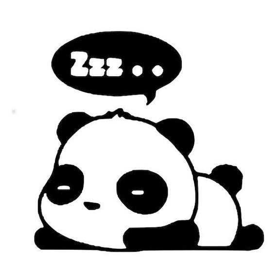 5 Cute Panda SVG Files Cricut Cut Applique Silhouette Digital Sleeping Cool Vinyl Svg Paper From HemingLine On Etsy
