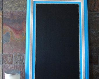 Rustic Framed Chalkboard, Wedding Chalkboard, Teal Chalkboard, Chalkboard Sign, Kitchen Chalkboard Frame, Chalkboard