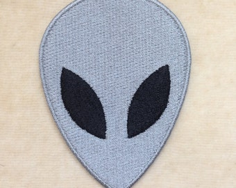 Alien UFO Iron On Patch #Gray