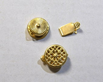 Box Clasp in Matte Gold, Antique Silver or Antique Brass 9mm (5)