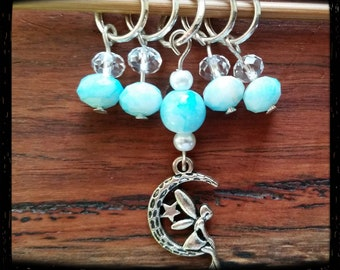 Sky fairy stitch markers