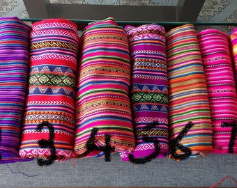 Ethnic fabric peruvian fabric aguayo fabric tribal fabric 4 yards bundle in pinks