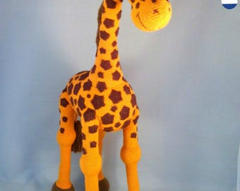 Crochet pattern Giraffe April crochet amigurumi giraffe, English, Dutch and German, zoo animal, giraffe toy,