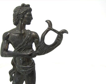 Greek Mythology  Statue of God Apollo , Metal Sculpture  ,Statue of  Apollo God of music and sun, Bronze figure